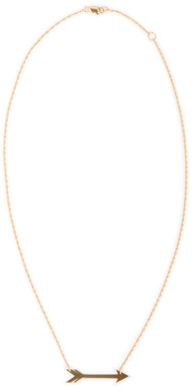 "Jennifer Zeuner Jewelry Montana 1"" Horizontal Arrow Necklace"