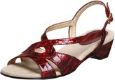 Ros Hommerson Women's Beau Crocodile Strappy Wedge Sandal