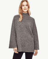 Ann Taylor Petite Ribbed Bell Sleeve Tunic Sweater