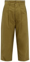 Chimala Straight-leg Cropped Cotton Chinos - Womens - Khaki