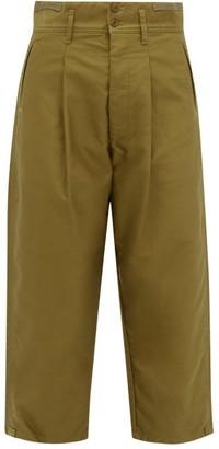 Chimala Straight-leg Cropped Cotton Chinos - Khaki