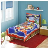 Nickelodeon Paw Patrol All Paws on Deck! 4 Piece Toddler Bed Set - Multicolor