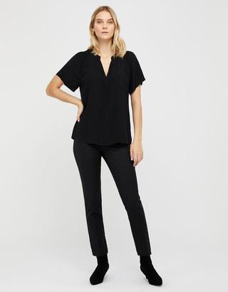 Monsoon Arabella Short Sleeved Blouse Black