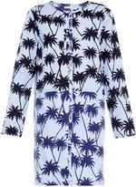 Tomas Maier Palm-print cotton shirtdress