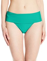 Jones New York Women's Solid Fold Over Bikini Bottom