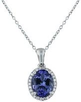 Effy Jewelry 14K White Gold Tanzanite and Diamond Pendant, 2.13 TCW
