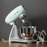 Crate & Barrel Smeg Pastel Green Retro Stand Mixer