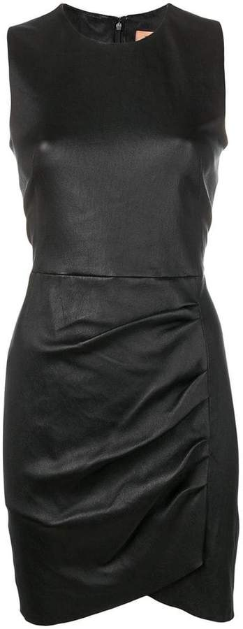 db558b4f0a1 Black Leather Cocktail Dress - ShopStyle