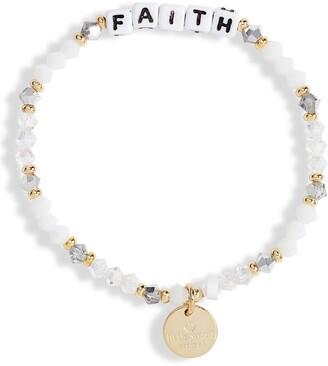 Little Words Project Faith Beaded Stretch Bracelet