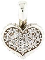 Lagos Diamond Caviar Heart Pendant