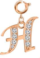 Lovely Silver charms with rose gold plating by Shalalla London - Zirconia many Initials availa