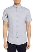 Calibrate Jacquard Short Sleeve Button-Up Shirt