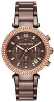 Michael Kors Chronograph Parker Sable Stainless Steel Bracelet Watch