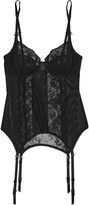 Heidi Klum Intimates Odette mesh and stretch-lace basque