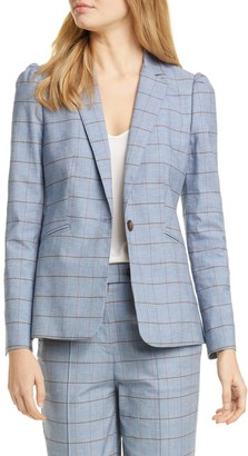 Tailored by Rebecca Taylor Windowpane Twill Jacket