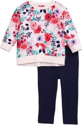 Little Me Floral Sweatshirt & Leggings Set