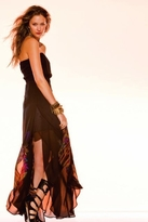 Twelfth St. By Cynthia Vincent by Cynthia Vincent Split Petal Strapless Long Dress in Petunia