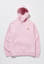 [unisex] Patched Hoodie Pink