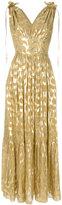 Temperley London Rider V neck dress - women - Silk/Metallic Fibre - 6