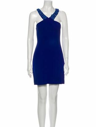 Matthew Williamson V-Neck Mini Dress Blue