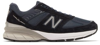 New Balance 990v5 Suede And Mesh Trainers - Womens - Navy