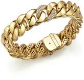 Roberto Coin 18K Yellow Gold Link Bracelet with Diamonds