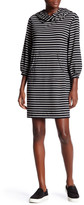Max Studio Long Sleeve Striped Pouch Pocket Dress