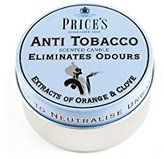 Price's Anti Tobacco Scented Candle Eliminates Odour Fast Postage