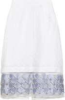 Markus Lupfer Starla embellished broderie anglaise skirt