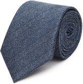 Reiss Ceremony - Textured Silk Tie in Blue, Mens