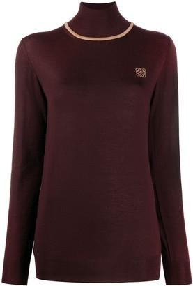 Loewe Anagram-embroidered high neck jumper