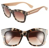 Fendi Women's 50Mm Retro Sunglasses - Black