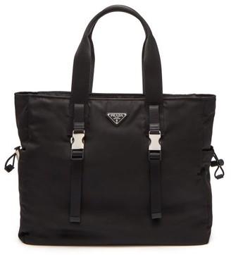 Prada Triangle Logo-plaque Nylon Weekend Bag - Black