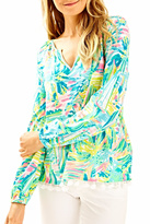 Lilly Pulitzer Casual Tassle Top