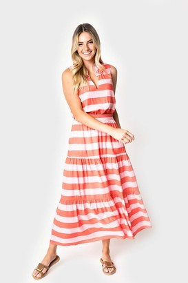 Gibson Paradise Tiered Maxi Skirt