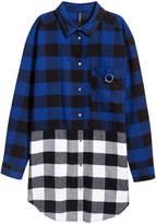H&M Long Flannel Shirt -Blue/White/Black