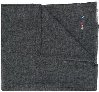 Paul Smith Embroidered Logo Scarf