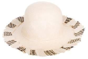 Jennifer Ouellette Woven Straw Hat w/ Tags