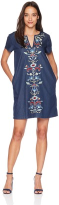 Pendleton Women's Tala Embroidered Cotton Shift Dress