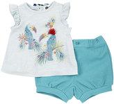 Petit Lem Jungle-Print Top & Shorts Set, Turquoise, Size 12-24M