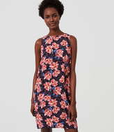LOFT Hibiscus Shift Dress