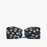 J.Crew U-front bandeau bikini top in falling floral print