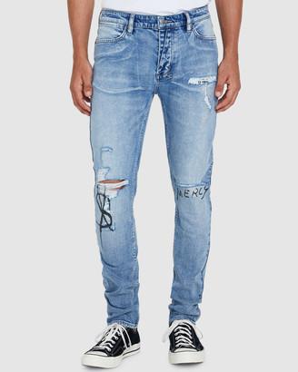 Ksubi Van Winkle Jeans Scribe Punk Blue