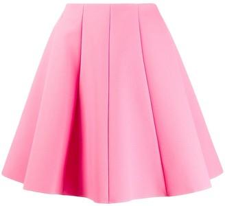 MSGM Panelled Skater Skirt