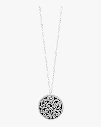 Lois Hill Signature Scroll Small Round Pendant Necklace