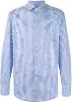 Canali striped long sleeve shirt - men - Cotton - 44