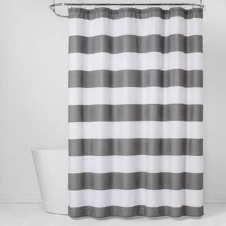 Room Essentials Stripe Shower Curtain Gray Mist - Room EssentialsTM