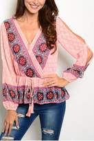 Ark & Co Peach Moroccan Blouse