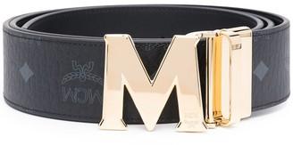 MCM Claus M reversible monogram-print belt