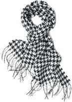 "Black and White Houndstooth Pashmina Scarf 12""w"